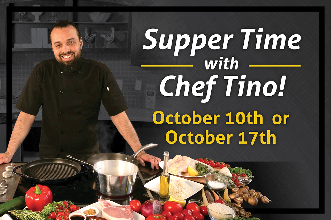 Virtual & In Person Events with Chef Tino